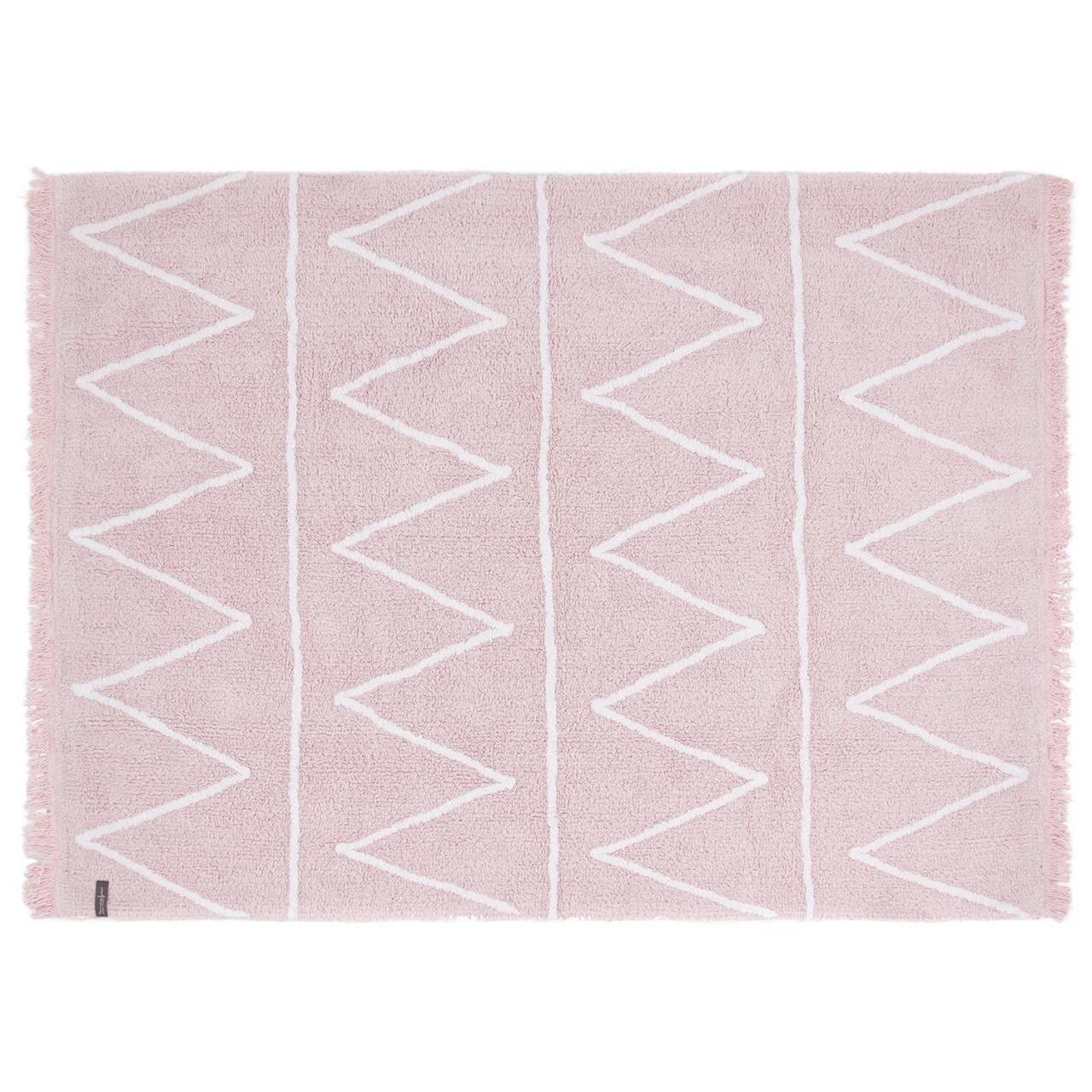 teppich für kinderzimmer mit zick zack rosa motiv günstig