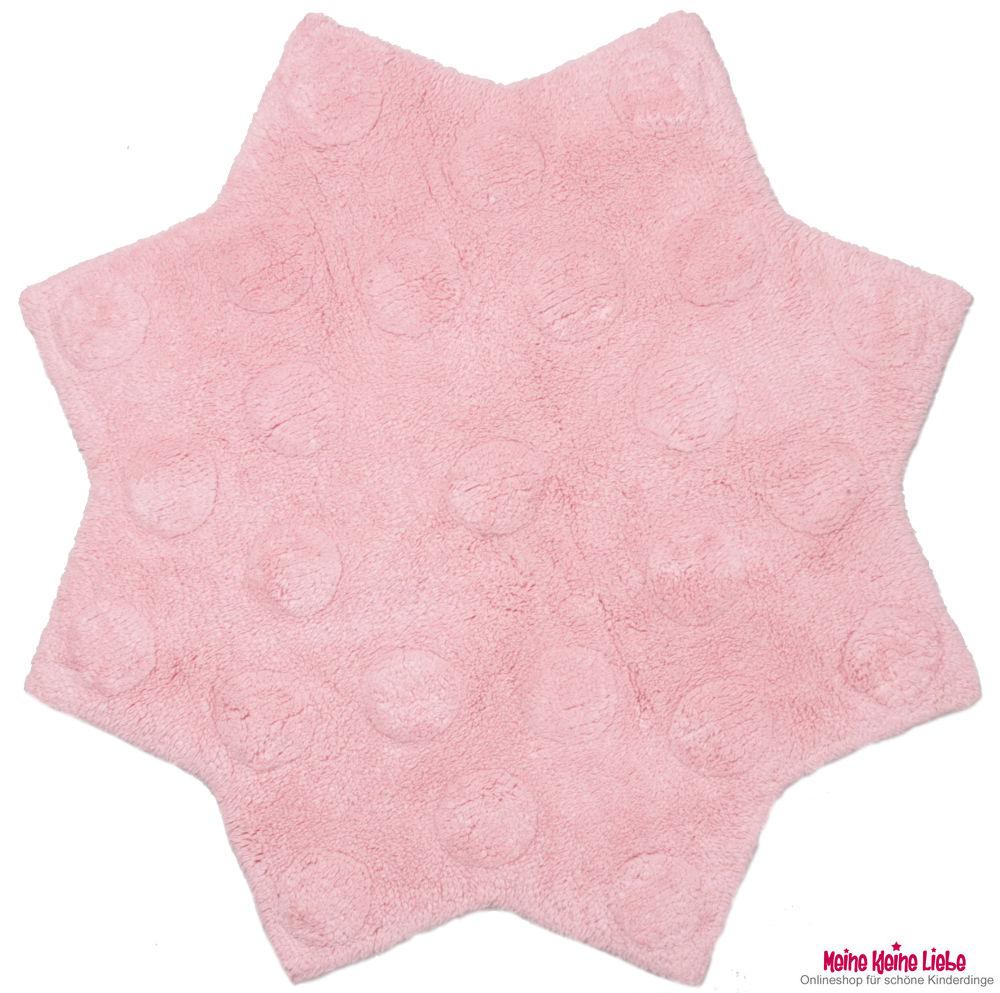 teppich kinderzimmer waschbar und klein stern rosa | meine kleine