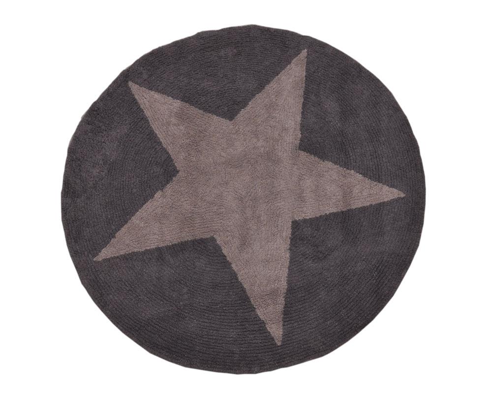 Teppich für das Kinderzimmer Sterne Grau  Meine kleine Liebe
