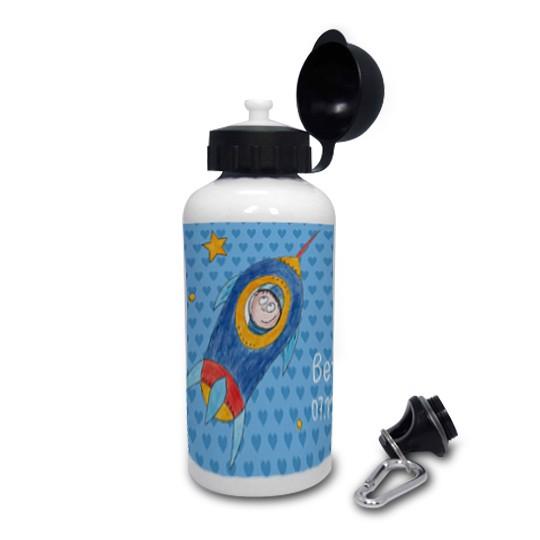 Trinkflasche mit Namen Astronaut