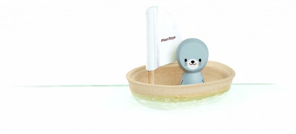 PlanToys - Badespielzeug Segelboot Robbe