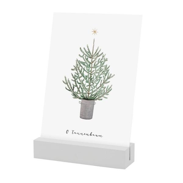 """Eulenschnitt - Foto- und Postkartenhalter 2er-Set """"weiß"""" - 10,5 cm"""