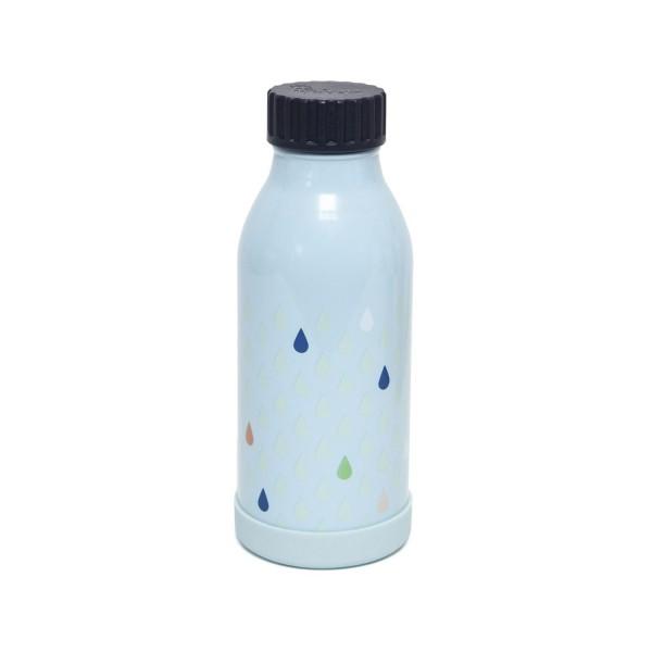 "Petit Monkey - Edelstahl Trinkflasche ""Tropfen blau"""