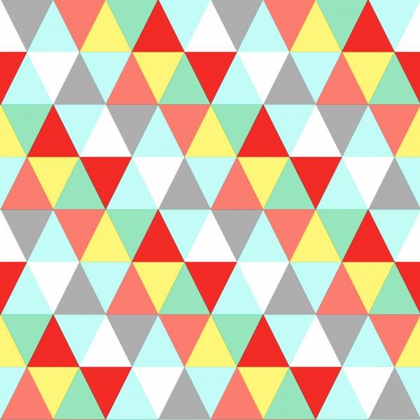 Tapete Retro Dreiecke Rot