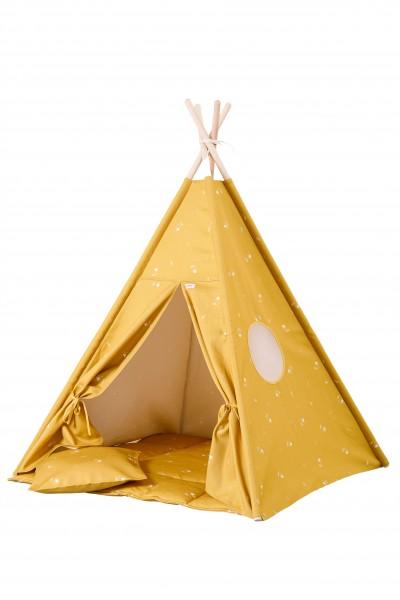WigiWama - Tipi Set - Wonder Forest Collection - Honey Mustard