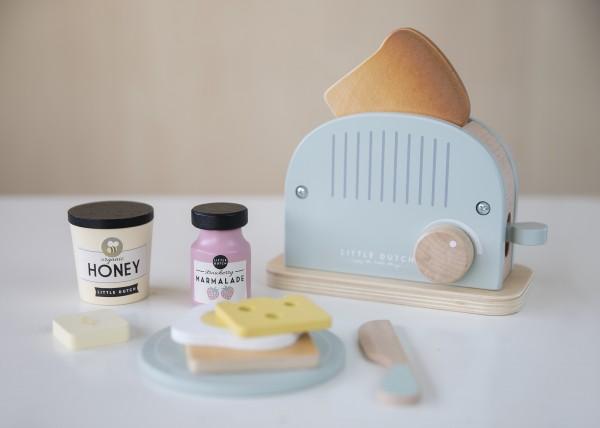 """Little Dutch - Toaster-Set Holz - 10-teilig """"mint"""""""