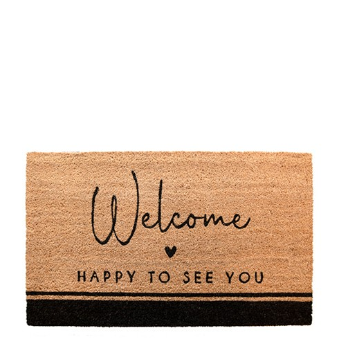 """Bastion Collections - Fußmatte """"Welcome - HAPPY TO SEE YOU"""""""