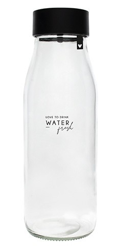 """Bastion Collections - Karaffe / Glasflasche """"Love to drink water"""""""