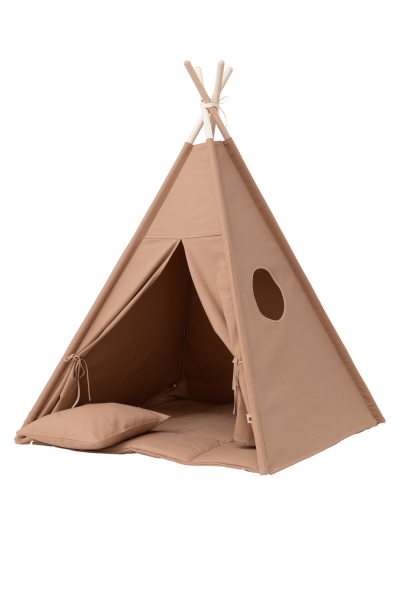 WigiWama - Tipi Set Plain-Collection - Warm Beige