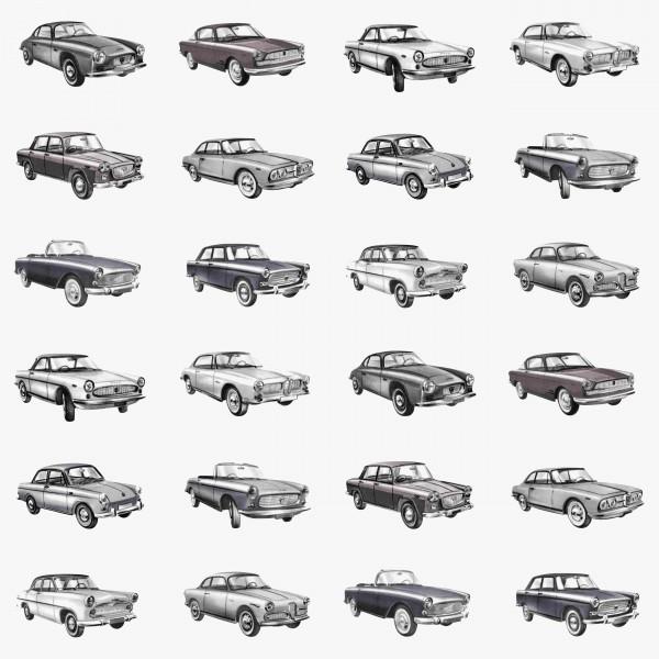 Tapete American Cars Grau