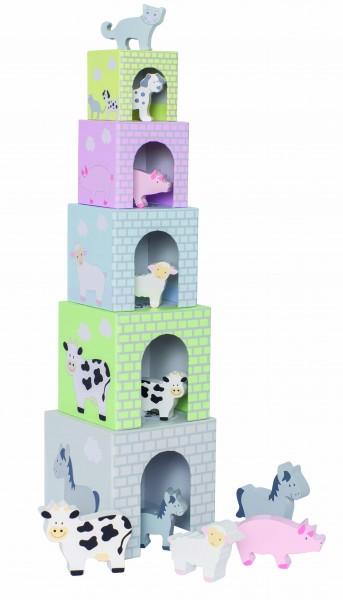 JaBaDaBaDo - Stapelturm inkl. Tiere aus Holz