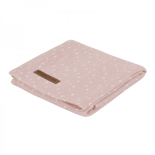 """Little Dutch - Swaddle Tuch """"Sprinkles Pink"""" 120 x 120 cm"""