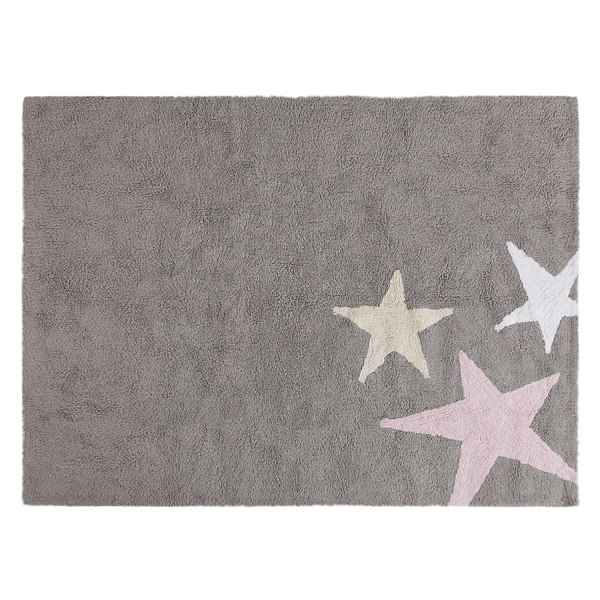 Lorena Canals - Kinderzimmerteppich Stern Grau Rosa
