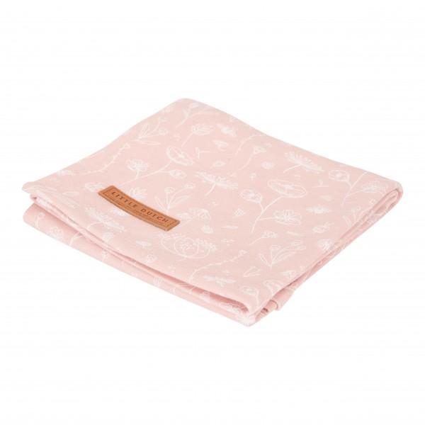"Little Dutch - Swaddle Tuch ""Wild Flowers Pink"" 120 x 120 cm"