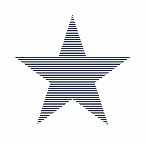 Tapete Sterne groß Marine schaffiert