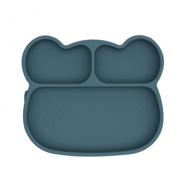 "We Might Be Tiny - Stickie Plate - Teller ""Bär"" - petrolblau"