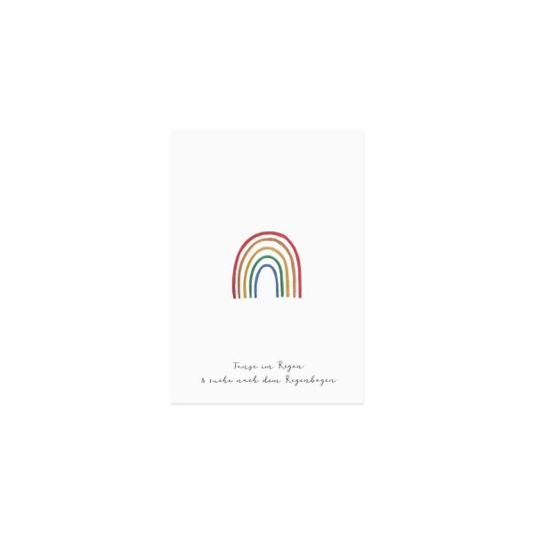 "Eulenschnitt - Postkarte ""Regenbogen"""