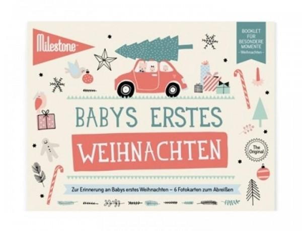 Meilensteinkarten - Babys erste Weihnachten