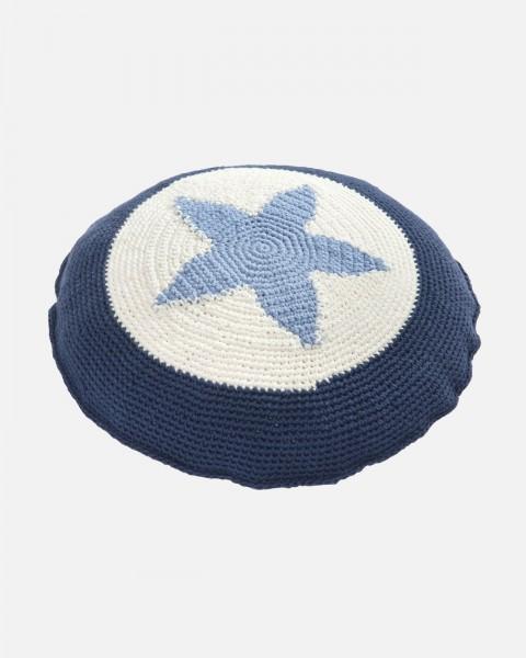 Kissen Stern Blau 40 cm