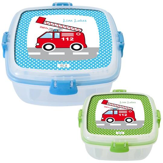 Lunchbox Feuerwehr in zwei Farben