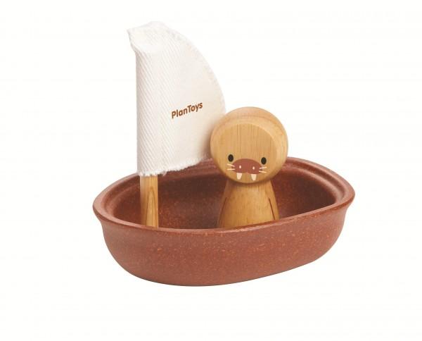 PlanToys - Badespielzeug Segelboot Walross