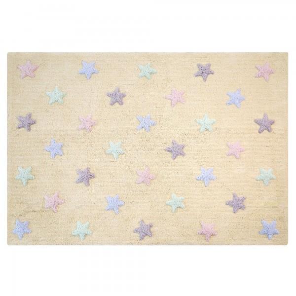 Kinderzimmerteppich Sterne zart Gelb