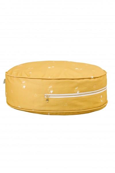 WigiWama - Sitzkissen rund - Wonder Forest Collection - Honey Mustard