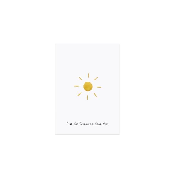 """Eulenschnitt - Postkarte """"Sonne"""""""