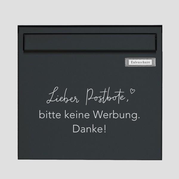 """Eulenschnitt - Sticker """"Bitte keine Werbung"""" - weiß"""