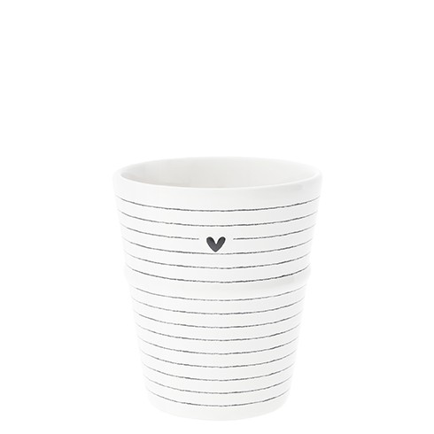 "Bastion Collections - Becher ""Stripes & Heart"""
