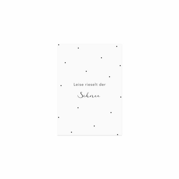"""Eulenschnitt - Postkarte """"Leise rieselt der Schnee"""""""