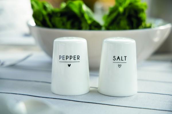 Bastion Collections - Salz- und Pfefferstreuer - weiß mit Herz