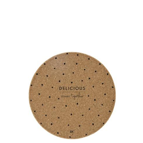 "Bastion Collections - Untersetzer Kork ""Delicious"" - 18 cm"