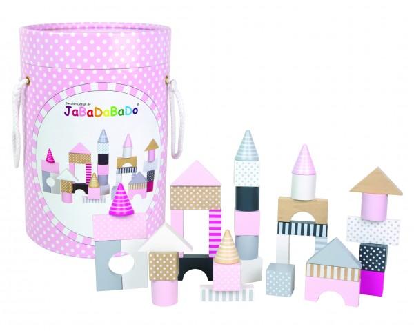 JaBaDaBaDo - Bauklötze CASTLE BUILDING 50-teilig in rosa