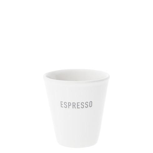 """Bastion Collections - Espresso Becher (Paperlook) """"ESPRESSO"""" - weiß/grau"""