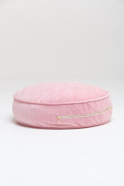 WigiWama - Sitzkissen rund - Velvet Collection - Rosa