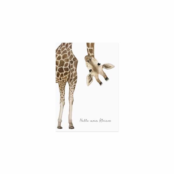 """Eulenschnitt - Postkarte """"Giraffe"""""""