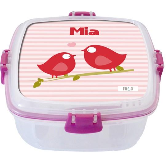 """Lunchbox groß """"Piepmatz"""" - personalisierbar"""