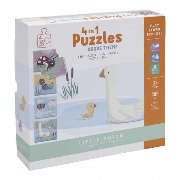 "Little Dutch - Puzzle 4 in 1 ""Gans"""