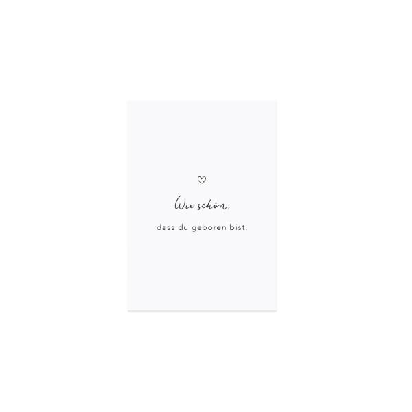 """Eulenschnitt - Postkarte """"Wie schön, dass Du geboren bist"""""""