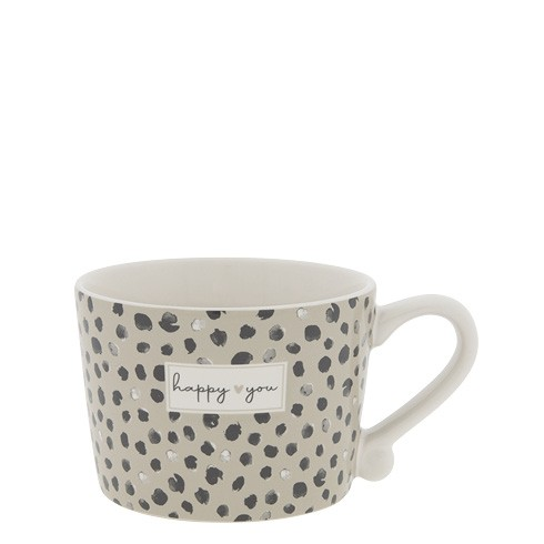"""Bastion Collections - Tasse klein """"happy you"""" Confetti"""