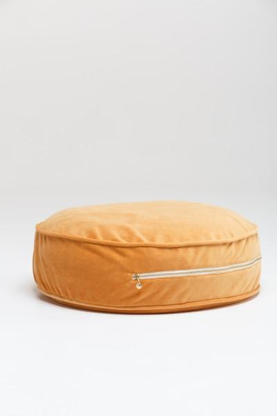 WigiWama - Sitzkissen rund - Velvet Collection - Honiggelb