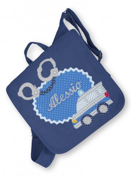 """crepes suzette - Kindergartentasche """"Polizei"""" dunkelblau"""