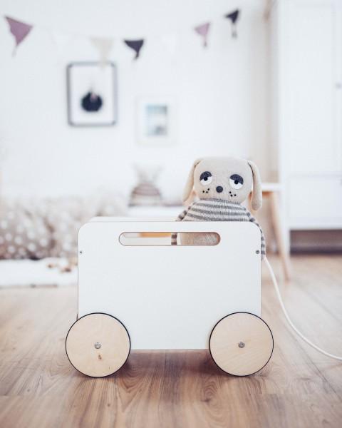 ooh noo - Spielwagen auf Rädern - weiß