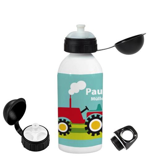 Trinkflasche mit Namen Traktor