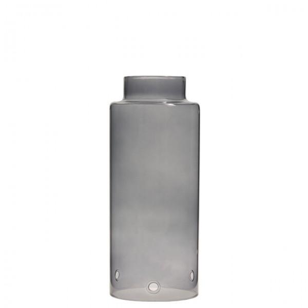"""STOREFACTORY - Windlicht """"STORM"""" Glaszylinder mit Kante - grau"""