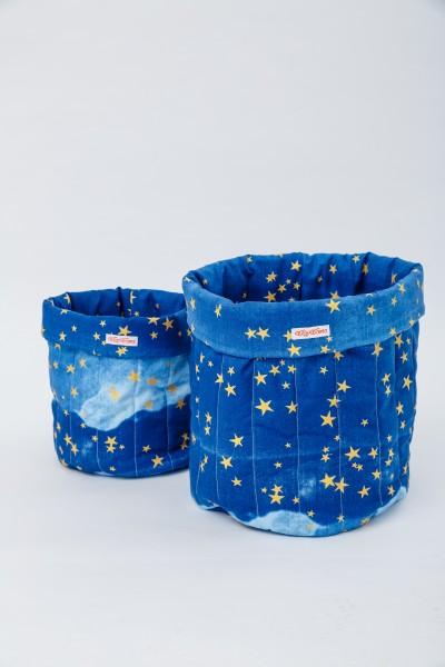 Wigiwama - Aufbewahrungskörbe - Glitter Collection - Golden Stars, in zwei Größen