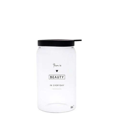 """Bastion Collections - Vorratsglas """"BEAUTY"""" XS - schwarz"""