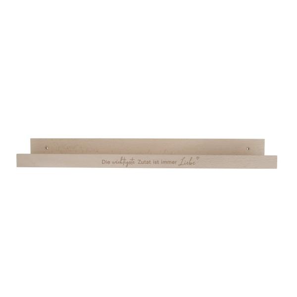 """Eulenschnitt - Regal aus Holz """"Die wichtigste Zutat ist immer Liebe"""""""