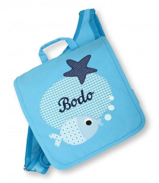 "crepes suzette - Kindergartentasche ""Bodo"" hellblau"